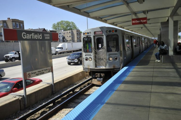 A train pulls into the garfield Station after the CTA announced the shut down of the L's Red Line from Cermak Road to 95th for five months starting next spring so it can completely rebuild the rails. Friday, June 1, 2012 | Brian Jackson~Chicago Sun-Times