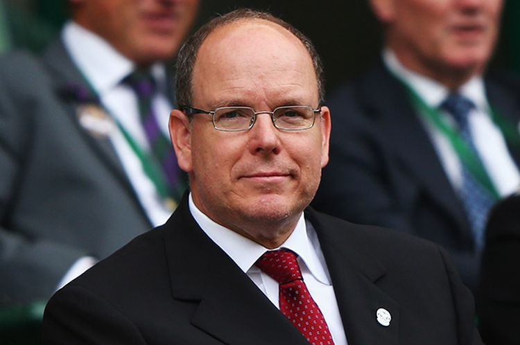 LONDON, ENGLAND - JULY 08: Prince Albert II of Monaco attend day nine of the Wimbledon Lawn Tennis Championships at the All England Lawn Tennis and Croquet Club on July 8, 2015 in London, England. (Photo by Ian Walton/Getty Images)