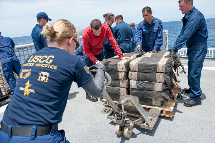 US agencies stop semi-submersible, seize 12,000 pounds of cocaine