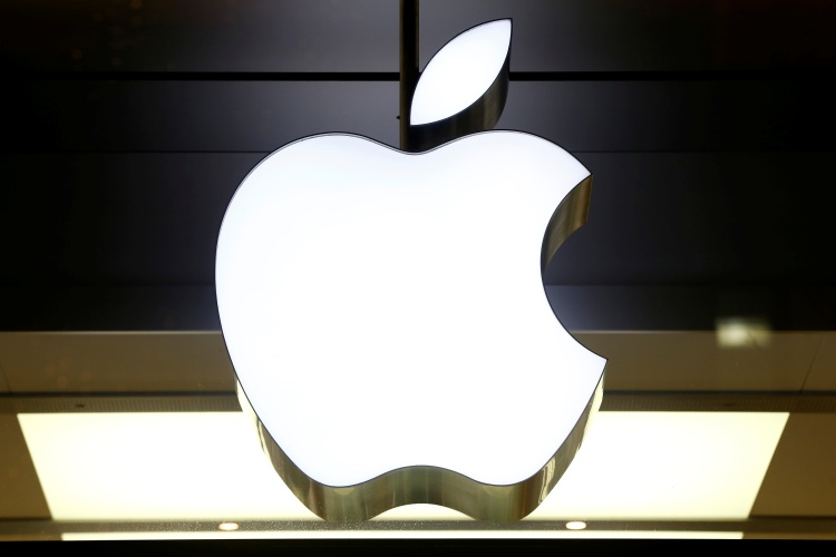 Logo of Apple is seen at a store in Zurich