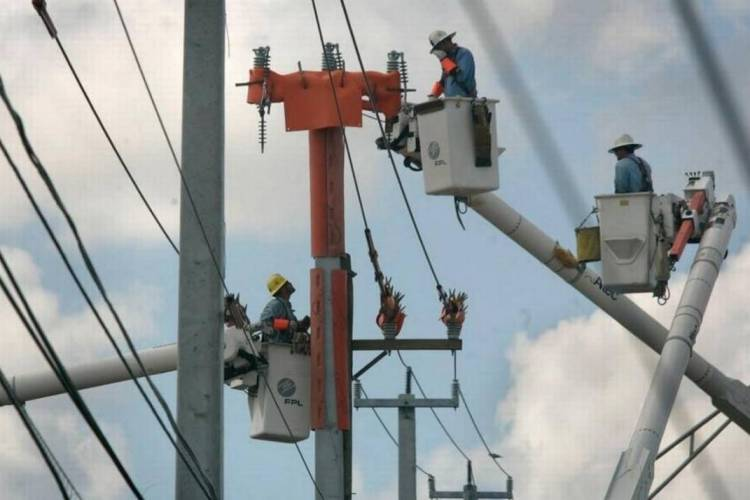 fpl workers and poles