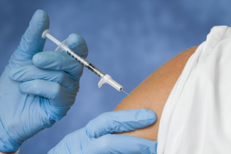 Flu Shot by a Needle