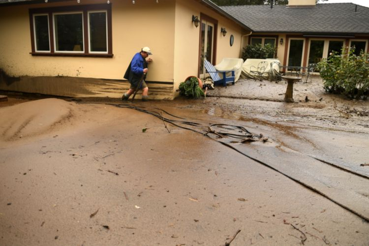 Heavy Rains Trigger Mudslides in Southern California