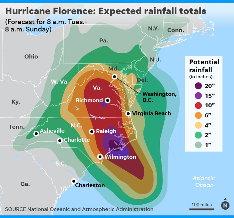 636722630623819474-091118-Rainfall-forecast-huricane-florence-Online